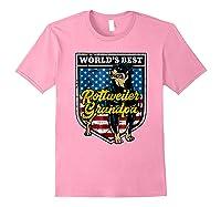 Worlds Best Rottweiler Grandpa Shirts Light Pink