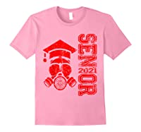 Vintage Senior 2021 Face Mask Quarantined Class Of 2021 Shirts Light Pink
