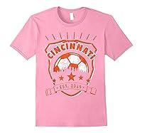 Vintage Cincinnati Soccer Sport Fan Gift Idea Fc 513 Shirts Light Pink