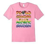 Autism Awareness Proud Grandma Of Autistic Grandson Shirts Light Pink