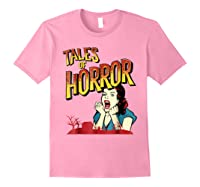 Vintage Horror Movie Poster Funny Halloween Shirts Light Pink