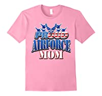Proud Air Force Mom Shirt Mothers Day Patriotic Usa Military Light Pink