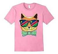 Namibia Flag Namibia Cat Sunglasses Shirt Light Pink