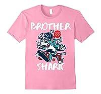Brother Shark Doo Doo Bro Fun Uncle Birthday Gift Idea Shirts Light Pink