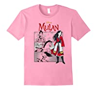 Mulan Live Action Comic Panels Shirts Light Pink