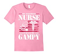 My Favorite Nurse Calls Me Gampy Father's Day Gif Shirts Light Pink