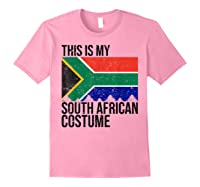 This Is My South African Flag Costume Design For Halloween Shirts Light Pink