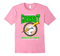 Funny Electrician Gift Electrical Engineer Lineman T-shirt Light Pink