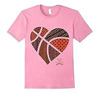 Virginia Cavaliers Patterned Heart Apparel Shirts Light Pink
