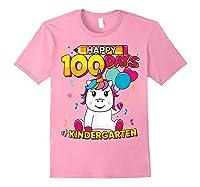 Unicorn Happy 100 Days School Kindergarten Girls Gift Shirts Light Pink
