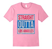 Straight Outta Los Angeles Basketball Shirts Light Pink