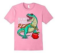 Teasaurus Rex - Funny Dinosaur Tea Appreciation Gift T-shirt Light Pink
