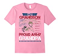 My Grandson Has Your Back Proud Army Grandpa Gift Shirts Light Pink