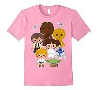 S Cute Kawaii Style Heroes Graphic C1 Shirts Light Pink
