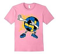 Dabbing Sweden Soccer Tshirt For Football Tee Light Pink