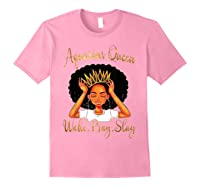 Aquarius Queens Are Born In January 20 February 18 Shirts Light Pink
