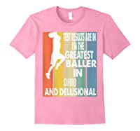 The Greatest Baller In Ohio Basketball Player T-shirt Light Pink