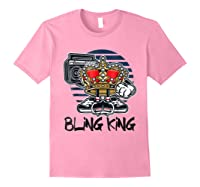 Hip Hop Bling King Shirts Light Pink