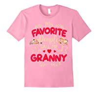 My Favorite People Call Me Granny Mothers Day Gift Shirts Light Pink
