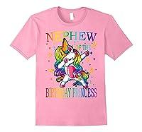Nephew Of The Birthday Princess Unicorn Girl T-shirt T-shirt Light Pink