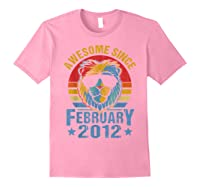 Lion 2012 Awesome February 8th Birthday Gifts King T-shirt Light Pink