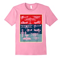 Aneisha Vintage Airplane Gift For Pilot Aviation Students Shirts Light Pink