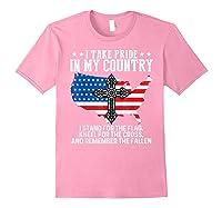 Take Pride N My Country Usa Flag 4th July Patriotic Shirts Light Pink