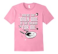 Star Trek Only One For Me Valentine's Day Graphic Shirts Light Pink
