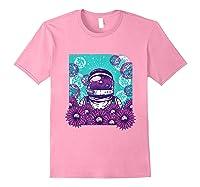 Astronaut Flowers Daisy Bubble Ocean Shirts Light Pink