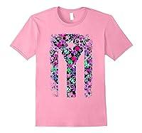 Floral Flower Boricua Taino Cool Gift Plum Puerto Rico Flag Shirts Light Pink