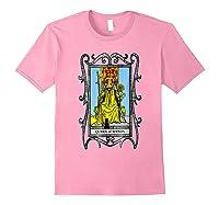The Queen Of Wands Tarot T-shirt Light Pink
