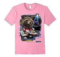 Marvel Avengers Endgame Rocket Logo Graphic T-shirt Light Pink
