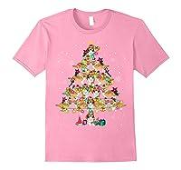 Shetland Sheepdog Christmas Tree Funny Sheltie Christmas T-shirt Light Pink