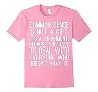 Common Sense Is Not A Gift Its A Punisht T Shirt Light Pink