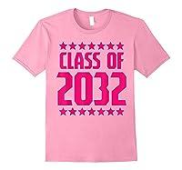 Class Of 2032 Stars Grow With Me First Day Kindergarten Gift T-shirt Light Pink