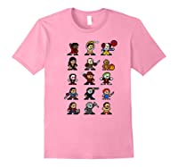 Friends Pixel Halloween Icons Scary Horror Movies Premium T Shirt Light Pink