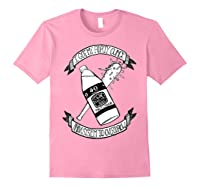 Got My 40 Oz And A System To Overthrow Folk Punk Anarchy Shirts Light Pink