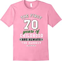 70th Birthday Funny Gift Life Begins At Age 70 Years Old T-shirt Light Pink