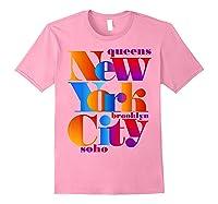 New York City T Shirt Urban Nyc Fashion Style T Shirt Nyc T Shirt Light Pink