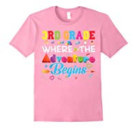 3rd Grade Where The Adventure Begins Third Back To Shirts Light Pink
