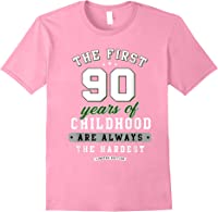 90th Birthday Funny Gift Life Begins At Age 90 Years Old T-shirt Light Pink