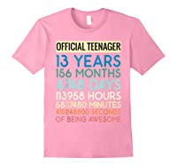 Nager Vintage 13 Years Birthday N Gifts Shirts Light Pink