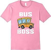 Funny Bus Boss School Bus Driver T-shirt Job Career Gift Light Pink