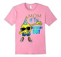 Cool Dancing Dabbing Emoji Mom Of Birthday Boy Party Shirts Light Pink