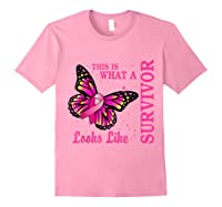 This Is What A Survivor Looks Like Breast Cancer Awareness T Shirt Light Pink