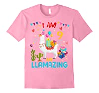 I Am 9 Years Old Zing Cute 9th Birthday Gift T-shirt Light Pink