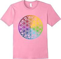 Blume Des Lebens Heilige Geometrie Spirituell Zen Yoga T-shirt Light Pink