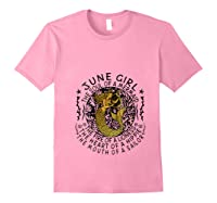 June Girl The Soul Of A Mermaid Tshirt Funny Gifts T Shirt Light Pink