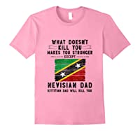 Saint Kitts Nevis Dad Gifts For Fathers Day Tank Top Shirts Light Pink