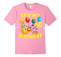 Funny Emoji It's My 30th Birthday 30 Years Old Shirts Light Pink